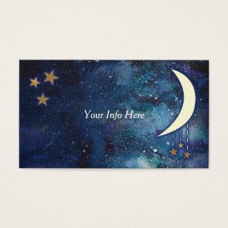 Tarjeta de visita de la luna y de las estrellas