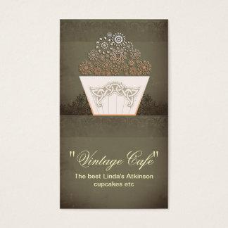 tarjeta de visita de la magdalena del café de la