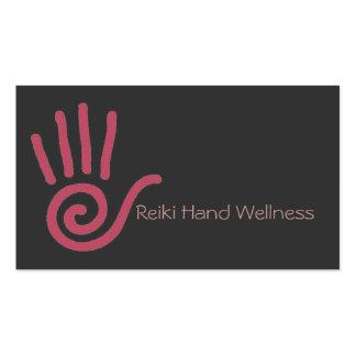 Tarjeta de visita de la mano de Reiki