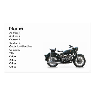 Tarjeta de visita de la moto