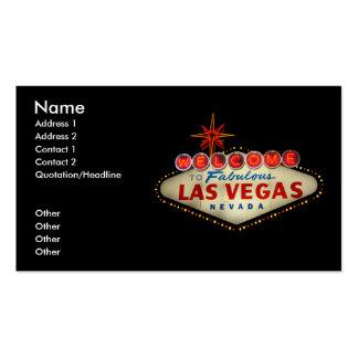 Tarjeta de visita de la muestra de Las Vegas
