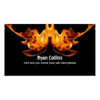 tarjeta de visita de la muestra del fuego