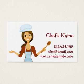 Tarjeta de visita de la mujer del cocinero del