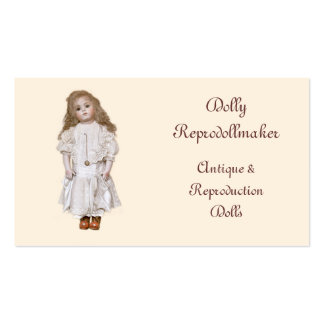 Tarjeta de visita de la muñeca de la porcelana