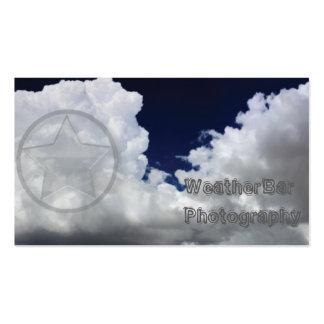 Tarjeta de visita de la nube con la estrella