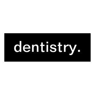 Tarjeta de visita de la odontología