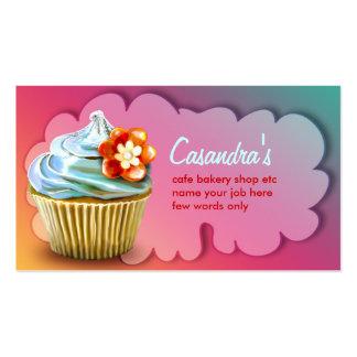 tarjeta de visita de la panadería de las tortas de