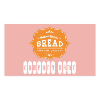 Tarjeta de visita de la panadería