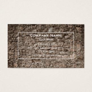 Tarjeta de visita de la pared de piedra