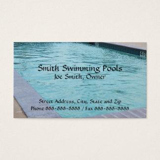 Tarjeta de visita de la piscina