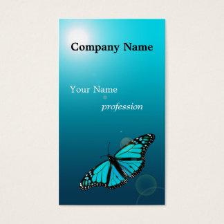 Tarjeta de visita de la profesión de la mariposa