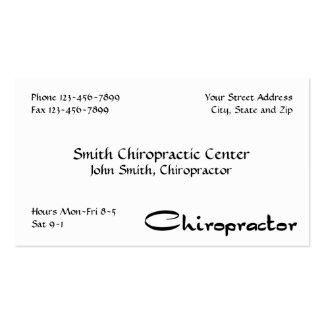 Tarjeta de visita de la quiropráctica del Chiropra