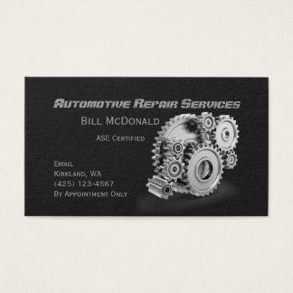 Tarjeta de visita de la reparación de automóviles