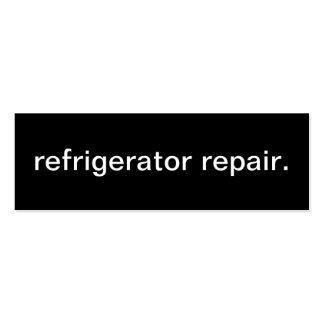 Tarjeta de visita de la reparación del refrigerado