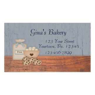 Tarjeta de visita de la repostería y pastelería