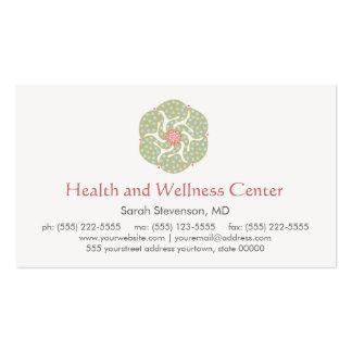 Tarjeta de visita de la salud y de la salud de los