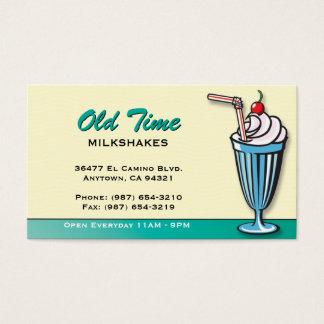 Tarjeta de visita de la tienda de helado del
