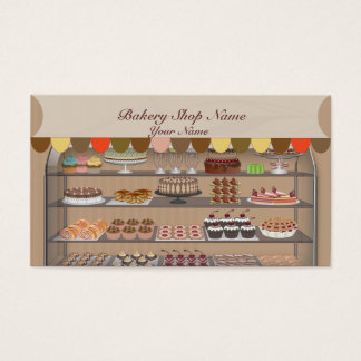 Tarjeta de visita de la tienda de la galleta de la