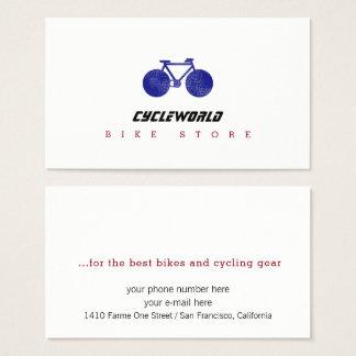 tarjeta de visita de la tienda del ciclo con la