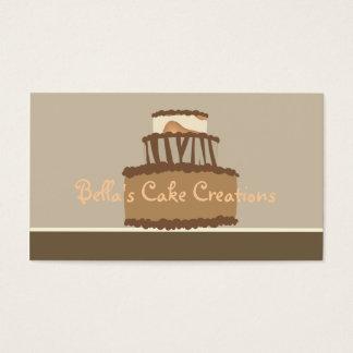 Tarjeta de visita de la torta de Bella