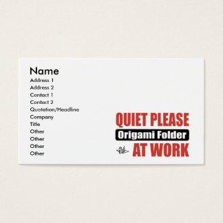 Tarjeta De Visita De la tranquilidad carpeta de Origami por favor en