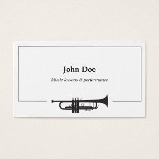 Tarjeta de visita de la trompeta