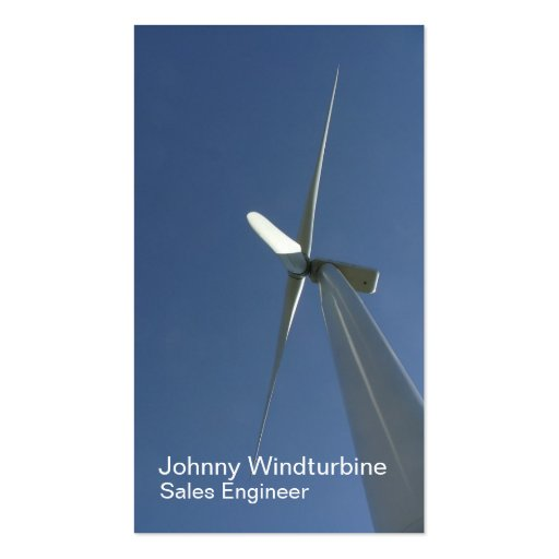 Tarjeta de visita de la turbina de viento