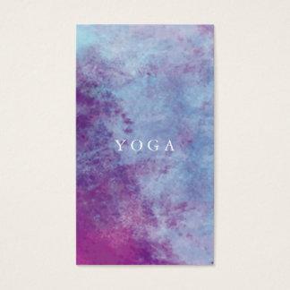 Tarjeta de visita de la yoga de la acuarela
