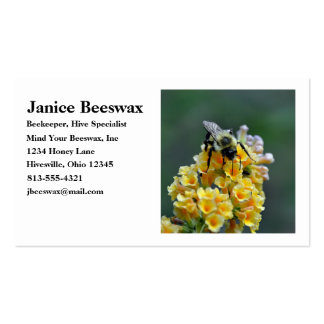 Tarjeta de visita de las abejas