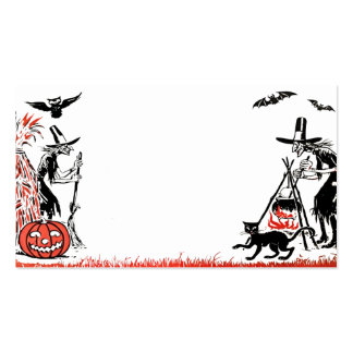 Tarjeta de visita de las brujas de Halloween