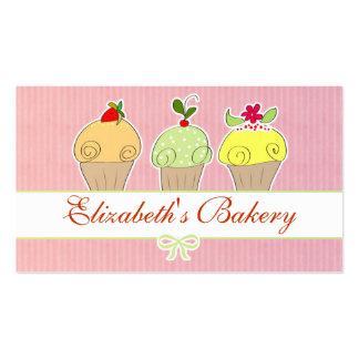 tarjeta de visita de las magdalenas de la panaderí