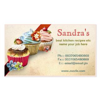 tarjeta de visita de las magdalenas para la