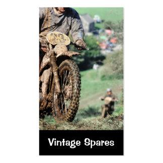 Tarjeta de visita de las motocicletas de los