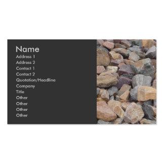 Tarjeta de visita de las rocas