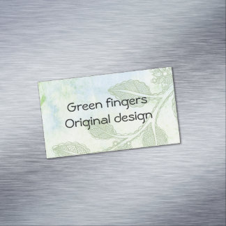 Tarjeta de visita de los dedos verdes