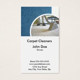 Tarjeta de visita de los limpiadores de la
