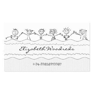 tarjeta de visita de los niños