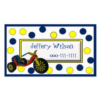 Tarjeta de visita de los niños de la rueda grande