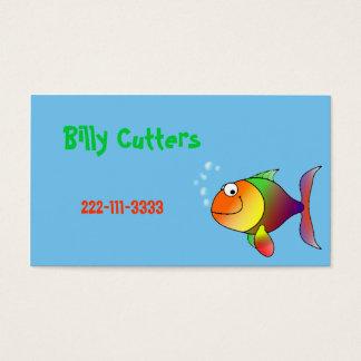 Tarjeta de visita de los niños de los pescados del