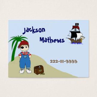 Tarjeta de visita de los niños del pirata