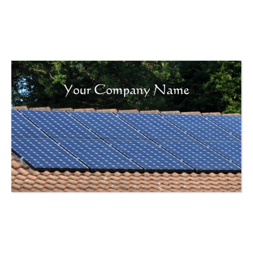 Tarjeta de visita de los paneles solares