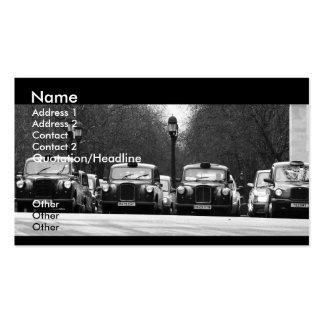 Tarjeta de visita de los taxis