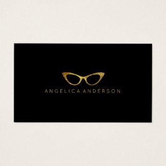 Tarjeta de visita de los vidrios del ojo del