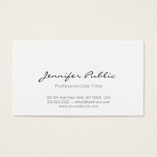 Tarjeta De Visita De lujo llano liso blanco elegante moderno