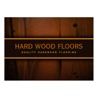 Tarjeta de visita de madera de madera del suelo de