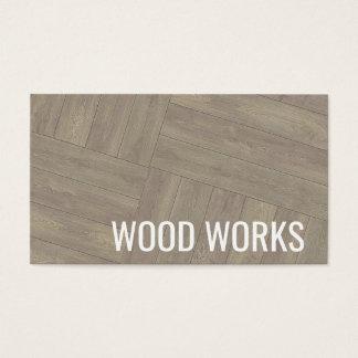 Tarjeta de visita de madera del diseño del modelo