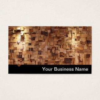 Tarjeta de visita de madera moderna de las mejoras