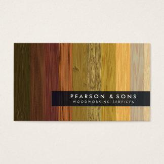 Tarjeta de visita de madera múltiple de la textura