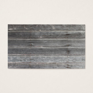 Tarjeta de visita de madera (resistida) vieja de