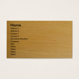 Tarjeta de visita de madera rubia